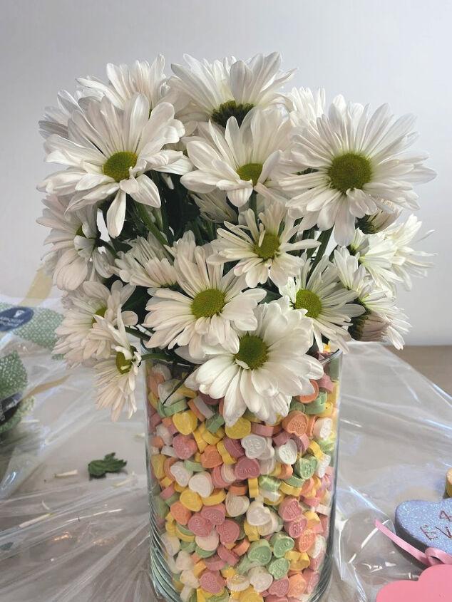 make an easy valentine s arrangement