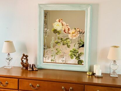 Floral Decal Mirror
