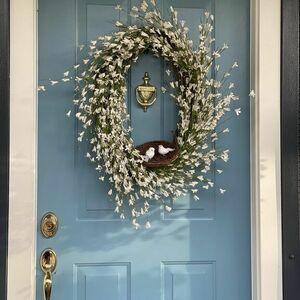Lovebirds blossom wreath