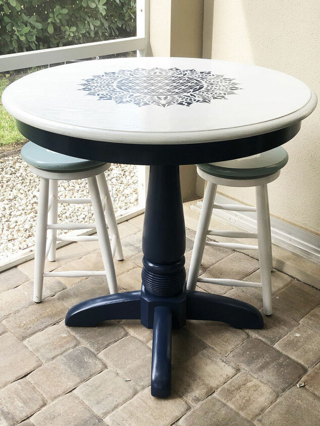 thrift store pub table makeover
