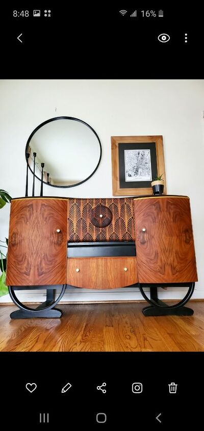 art deco drinks cabinet upcycle