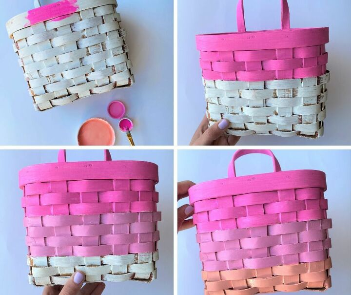 rainbow basket makeover
