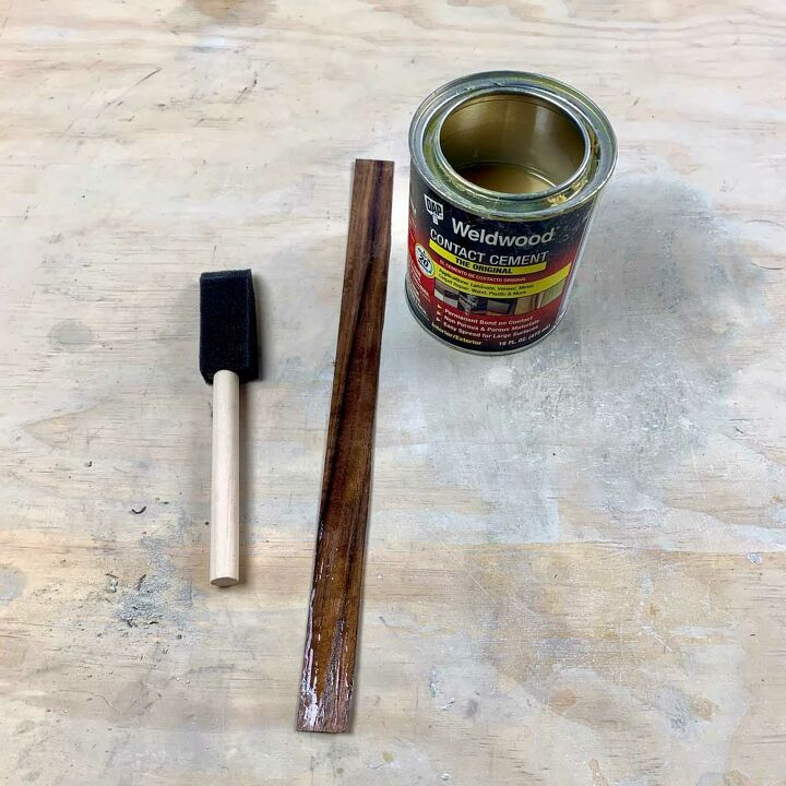 how to make a magnetic cement key holder