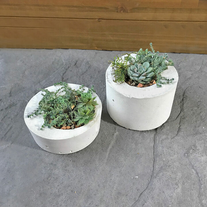 modern diy concrete planter