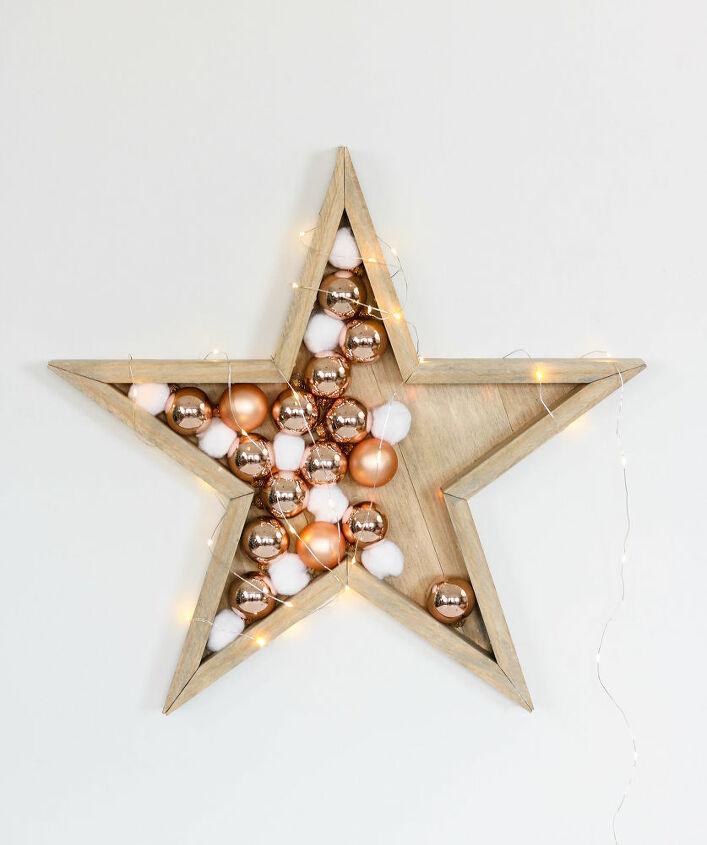 diy wood stars star lamp