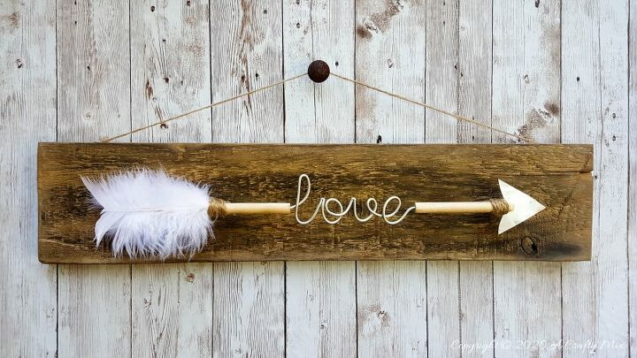 diy a valentine s love arrow