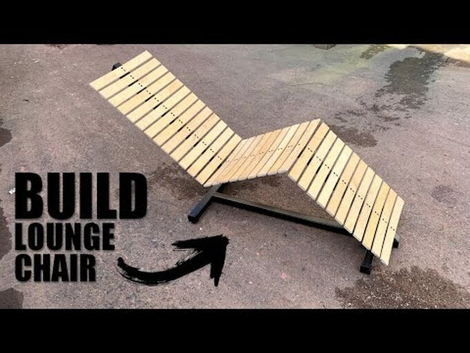 how to make a outdoor lounge chair design video