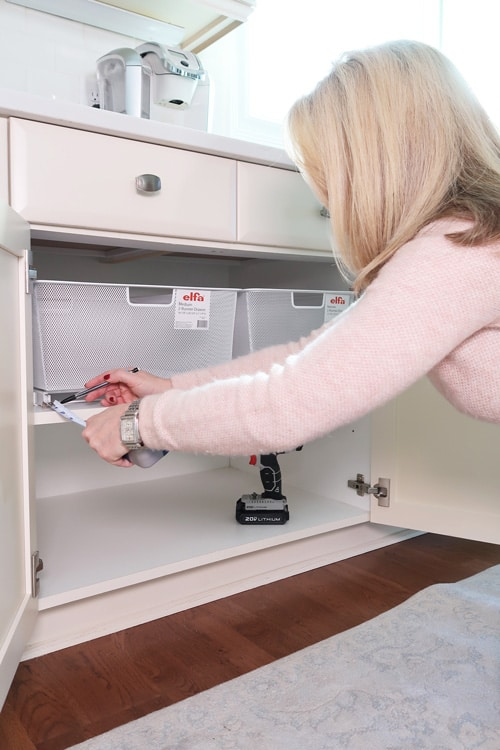 organize your cabinets with pull out drawers