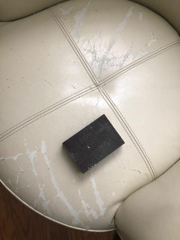 Damaged vinyl seat