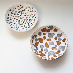 Terrazzo clay bowls
