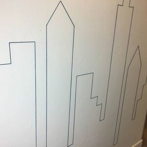 Cityscape accent wall