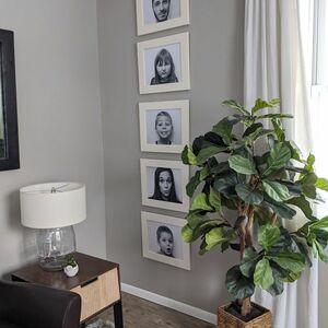 Cabinet door photo frame