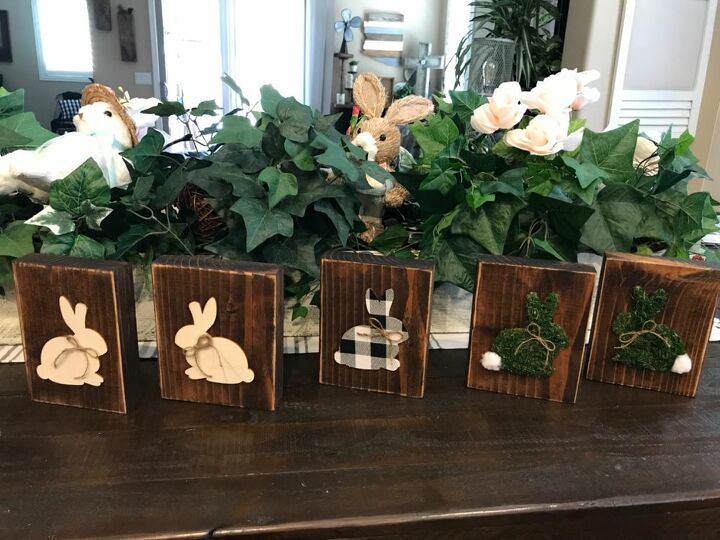 dollar tree bunny cut outs diy