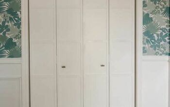 Bi-fold Closet Door Makeover - With Paint and Wood Slats