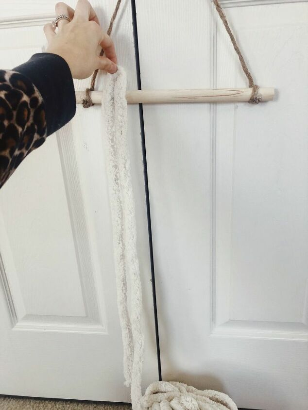 two step hanging yarn decor