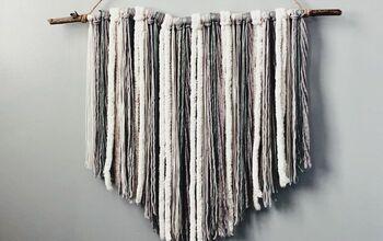 Two Step Hanging Yarn Decor!