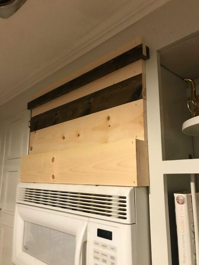 faux wood hood vent