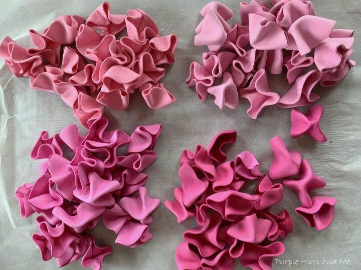 foam sheet ruffles and cardboard wreath