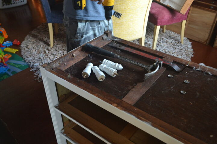 how to use table legs to transform an old dresser