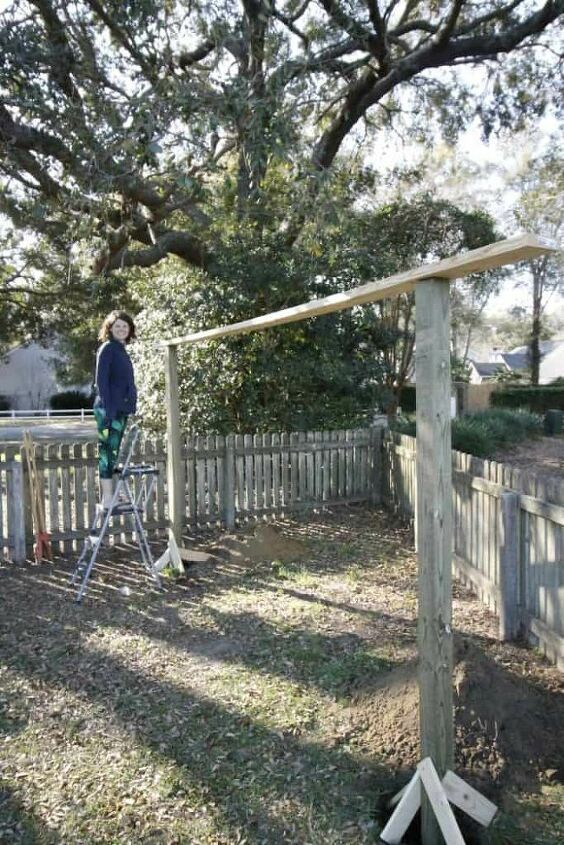 how to build a diy wooden pergola style hammock stand