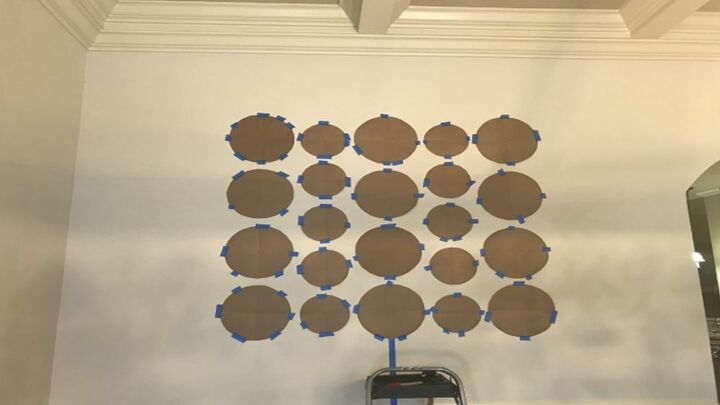diy abstract art plate wall