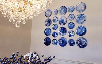 DIY Abstract Art Plate Wall