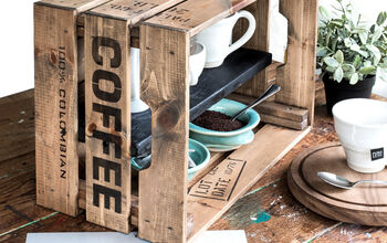 Double up Kitchen Counter Space With This Easy Crate Coffee Station!