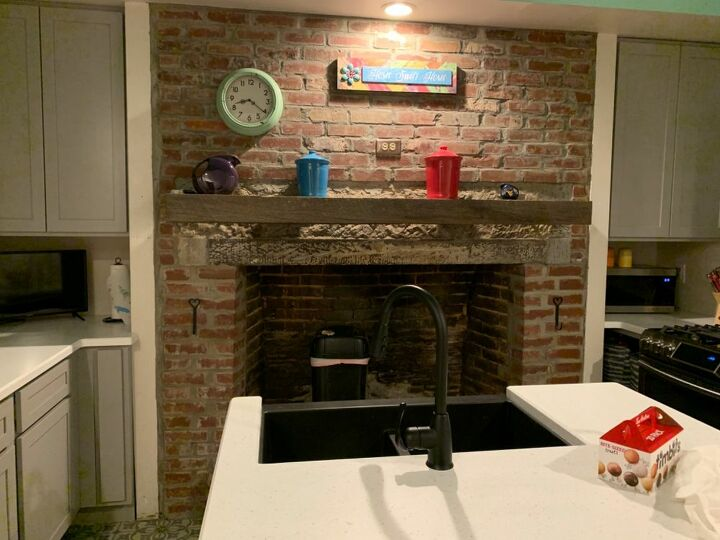 q what to do with kitchen fireplace
