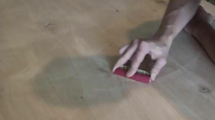 Sand Epoxy Residue