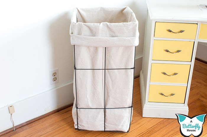diy fabric scraps storage bin