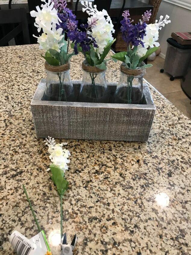 dollar store ice coffee flower box