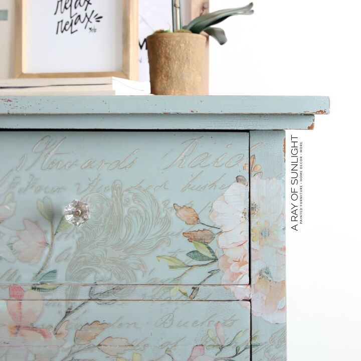 how to add flowers to furniture with decor transfers