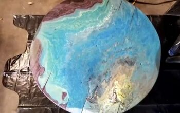 Transform Wood With Acrylic Pour Painting