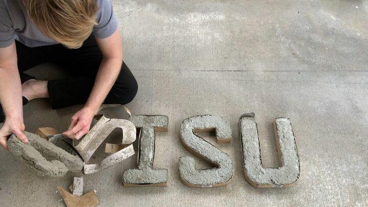 concrete letters diy