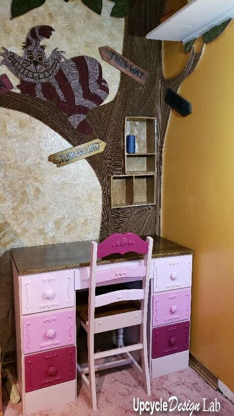 chair and desk refinish craft room makeover extreme upcycling