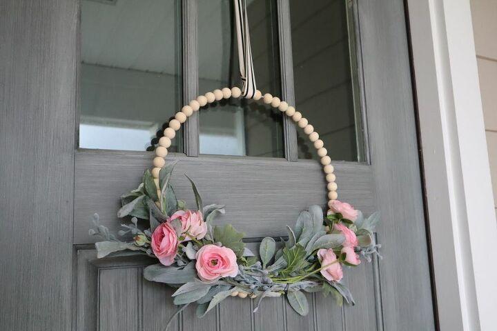 diy beaded wreath