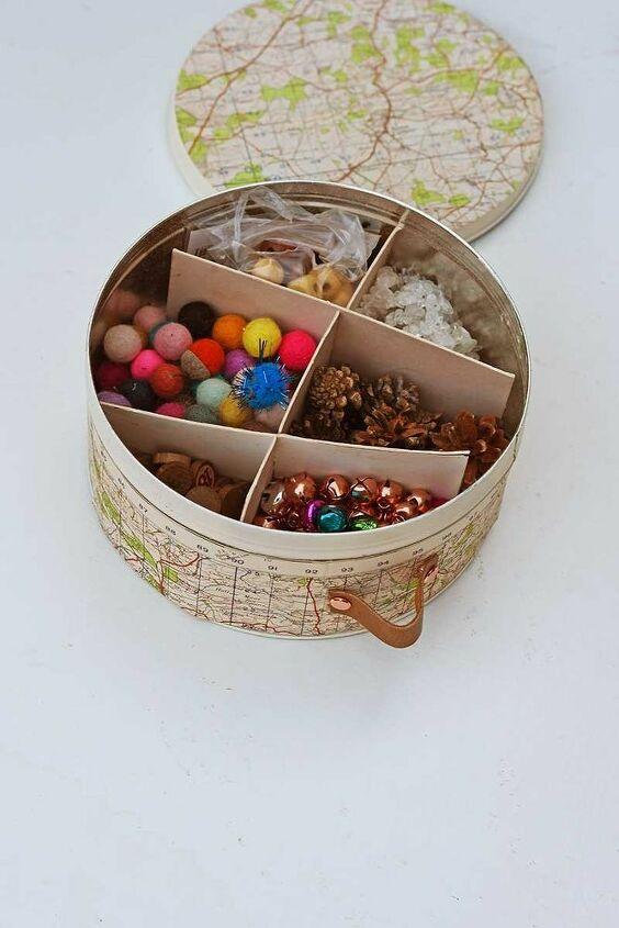 upcycle empty cookie tins into stylish storage