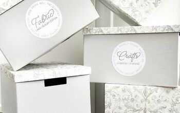Designer Storage Box Makeover With Free Printable Craft Room Labels