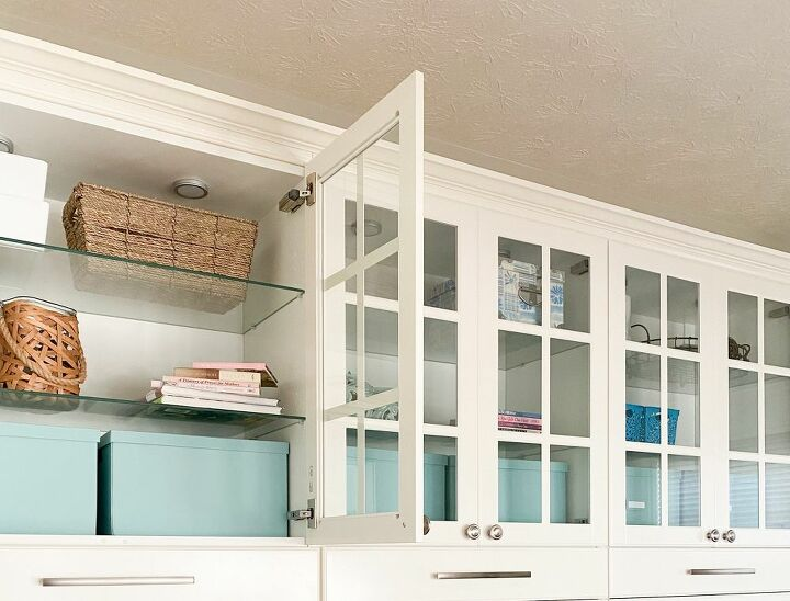 designer storage box makeover with free printable craft room labels