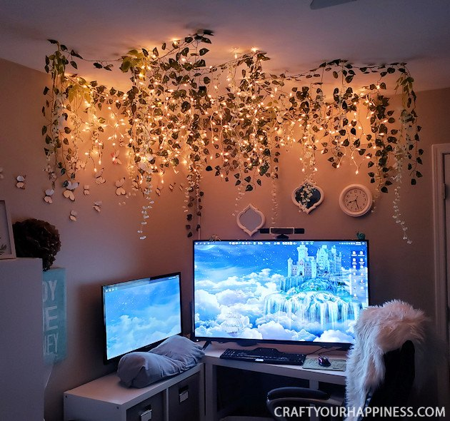 woodland twinkle light ceiling decor