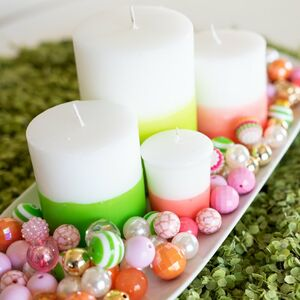 Dip-dyed candles