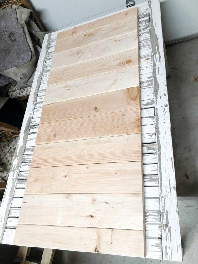 farmhouse queen bed frame