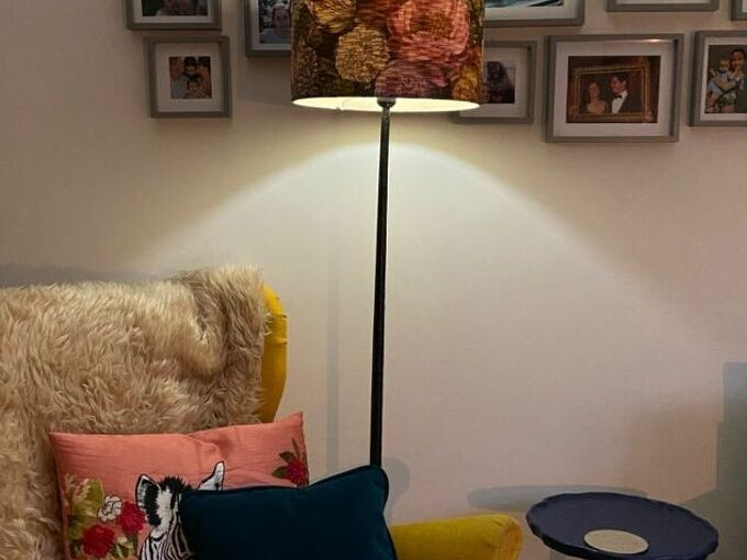 update and old lamp shade with these simple steps