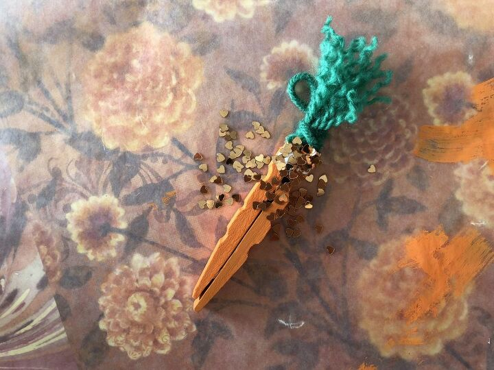 clothespin carrot ornament