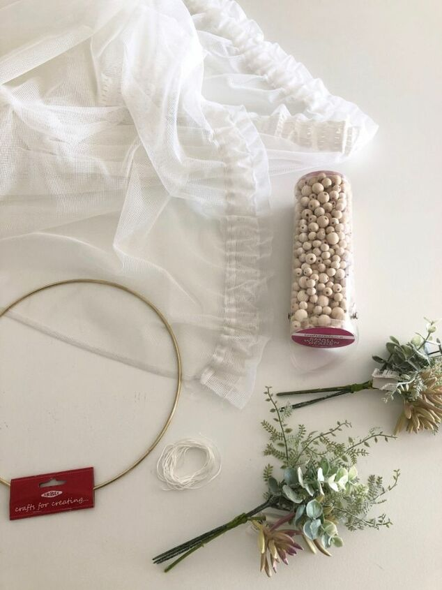 diy bed canopy, Materials needed