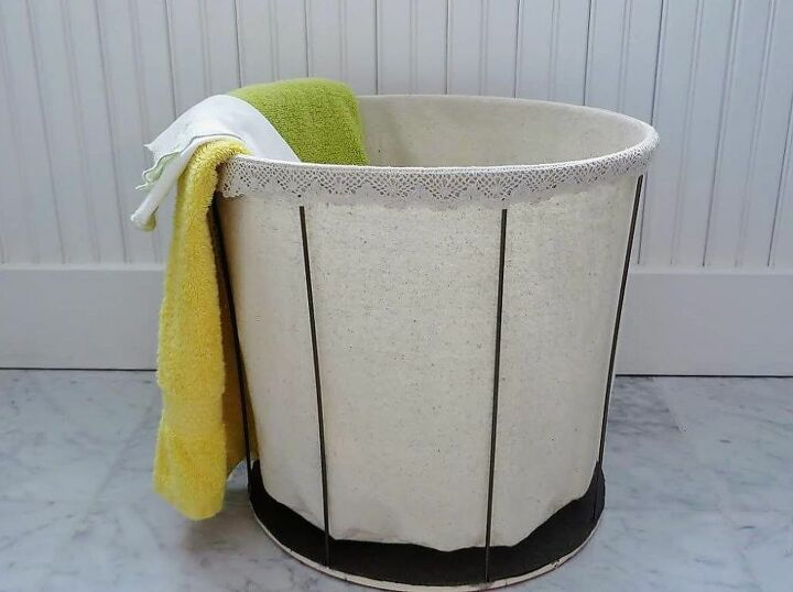 how i made a vintage inspired laundry hamper