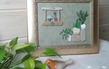 Succulent Artwork Made From Seaglass