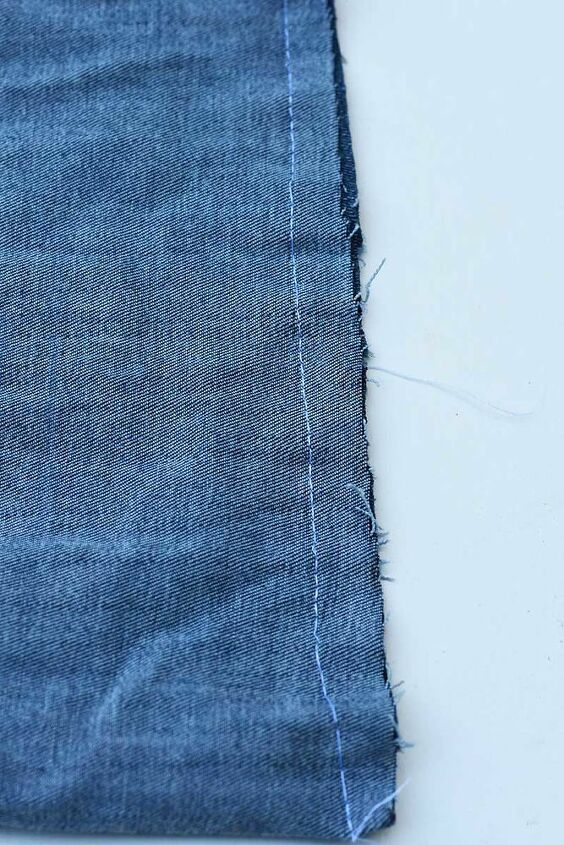 how to make simple denim hanging pockets