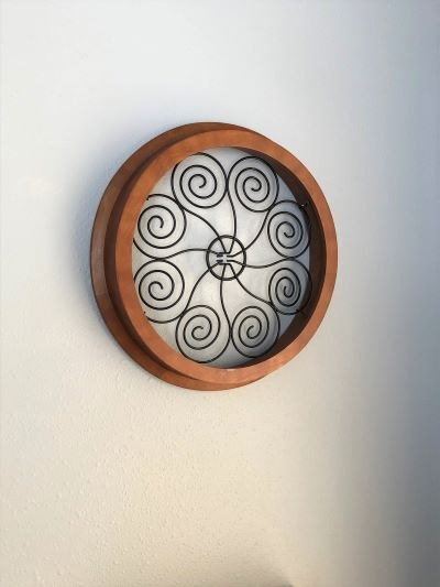diy medallion wood and metal wall art