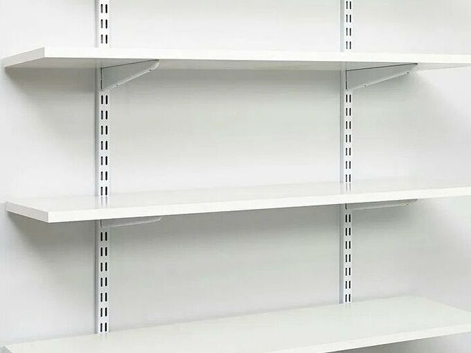 q any alternative to slotted wall track shelf systems